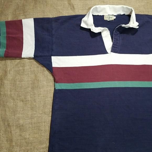 7ff91a4c L.L. Bean Shirts | Vintage Ll Bean Rugby Polo Shirt | Poshmark